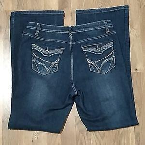 SaltWorks Medium Rise Flare Jeans. Sz 12